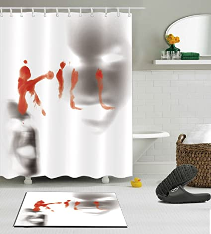 Amazon Halloween Decorative Bloody Decor Shower Curtain