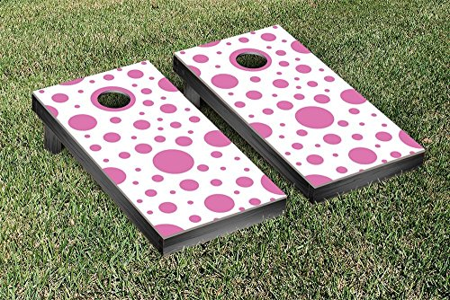 Pink Polka Dots Cornhole Bean Bag Toss Game by Victory Tailgate