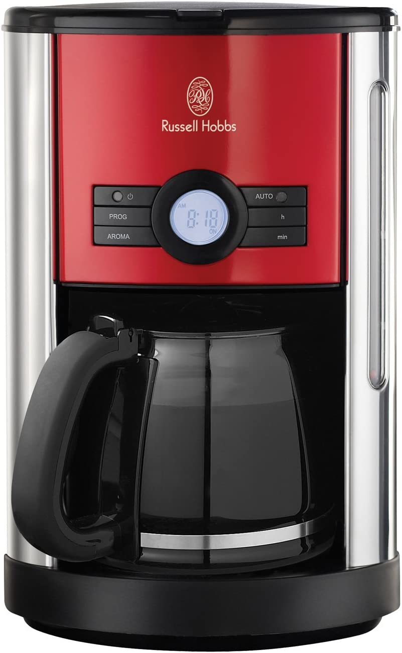 Russell Hobbs Cottage 18504-56 - Cafetera de goteo, acero inoxidable, 1000 W, color rojo: Amazon.es: Hogar