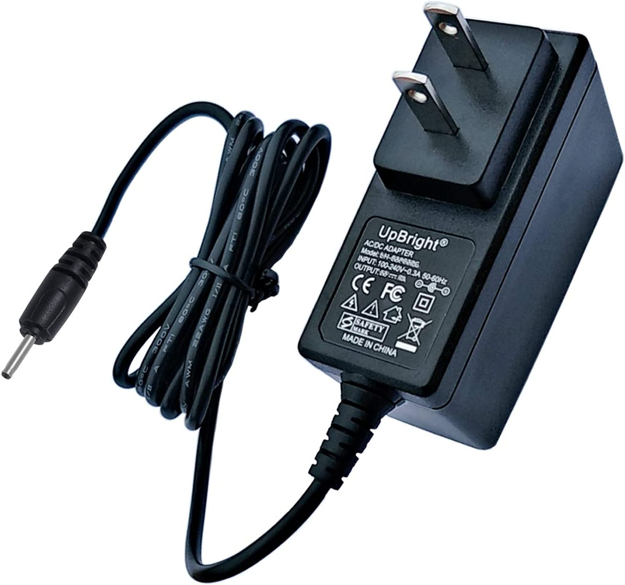 UpBright New Global 5V AC/DC Adapter Compatible with Flypower PS12H050K2000UD Tablet 5VDC 2A 5.0V 2000mA Switching Power Supply Cord Cable PS Battery Charger Mains PSU (w/Barrel Round Plug Tip)