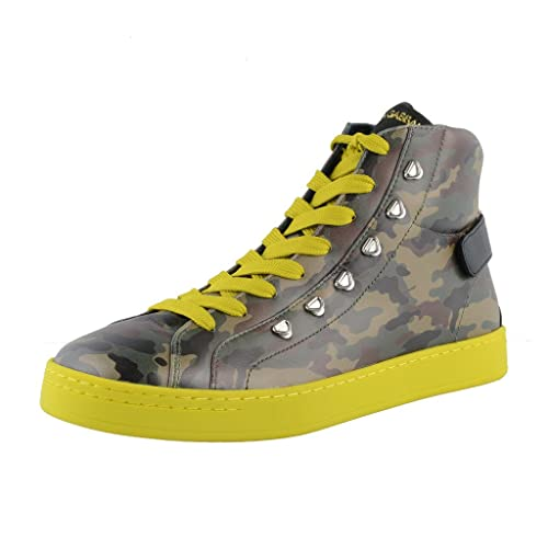 ad85114b7ade4 Dolce & Gabbana Camouflage Hi Top Leather Fashion Sneakers Shoes US 7 IT ...