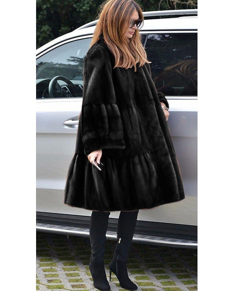 Aofur Damen Mantel Jacke Winter Lang Trenchcoat kunstpelz Parka Coat Gr. S XXXL