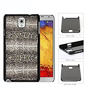 Taupe Snake Skin Print Design Hard Plastic Snap On Cell Phone Case Samsung Galaxy Note 3 III N9000 N9002 N9005