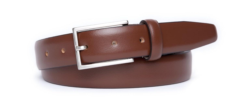 Julus Jason | Herren Anzug Ledergürtel - Lack braun / 3,0 cm
