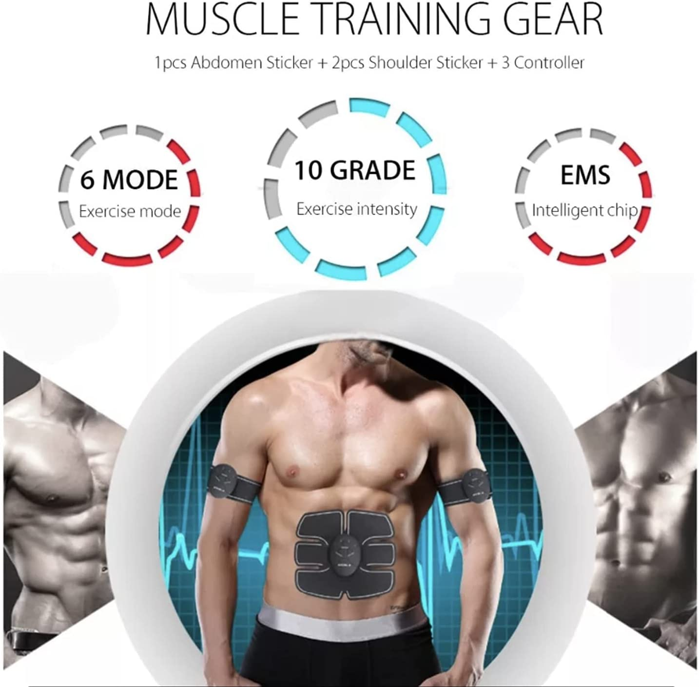 Body Muscle Electric Stimulator Hip Abdominal Arm Fitness Training Massager