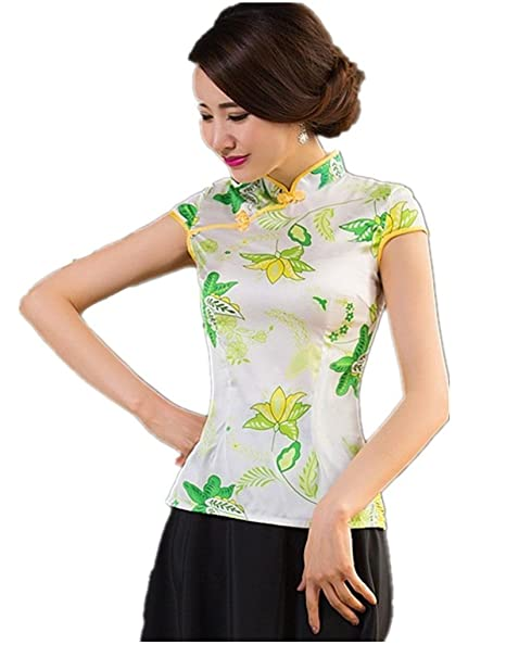 d7437ec10aa Amazon.com  Shanghai Story Chinese Blouse Cheongsam Top Qipao Ladies Tang  Suit Shirt 2XL 232  Clothing