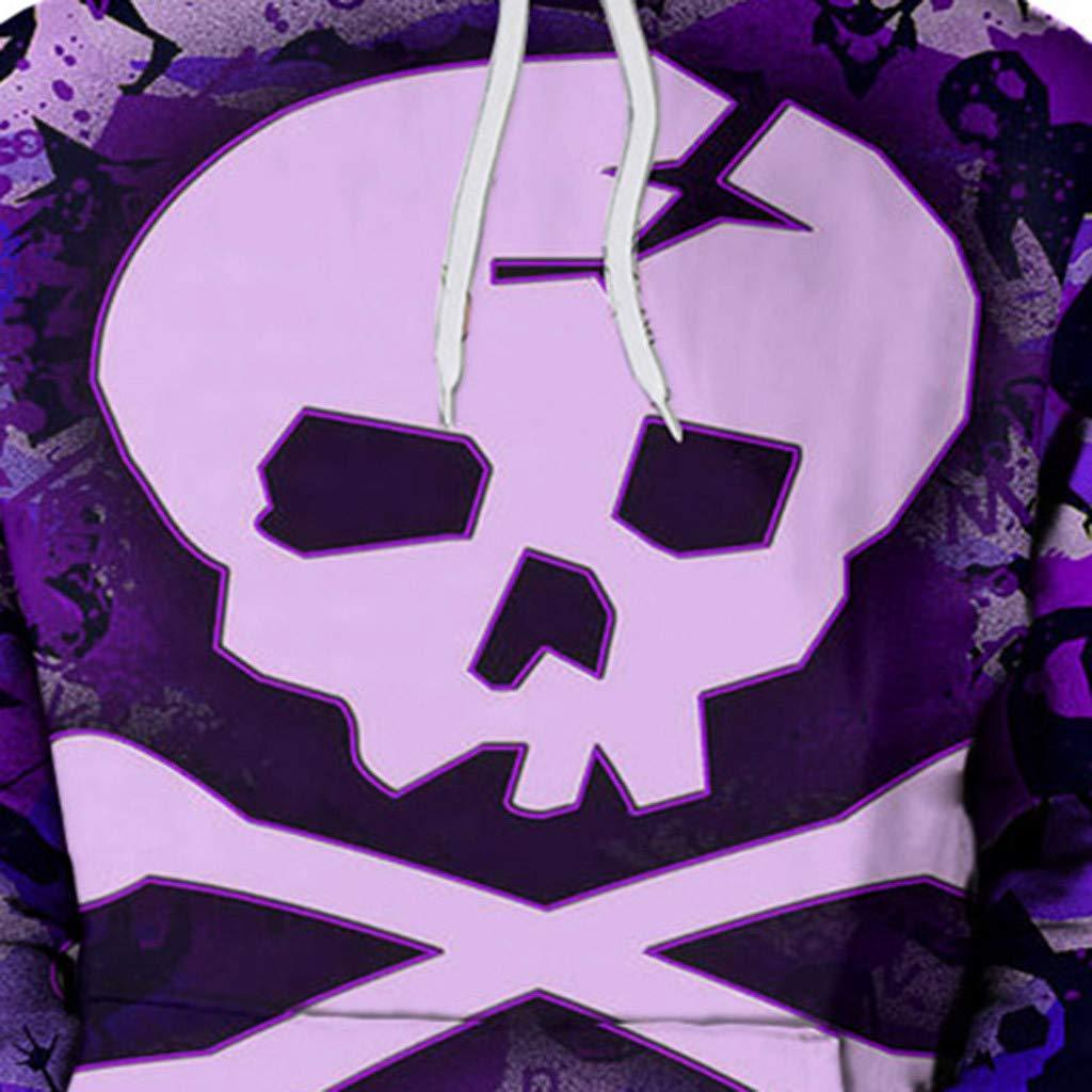 Leegor Men Cotton Hoodie Long Sleeve 3D Print Hooded Sweatshirt Casual Loose Pullover Sportswear