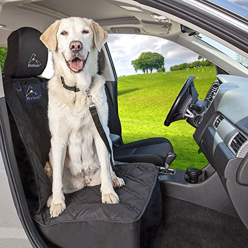 Meadowlark Car Seat Cover for Dogs: Premium Extra Thick Quilted Full Protection Front Seat Protector,Side Flaps, Waterproof, Durable, Nonslip Design, RFEE Bonus– Pet Seat Belt & Headrest Protector by Meadowlark (Image #4)