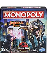 Monopoly - Jurassic Park Edition - inc T. Rex Dinosaur Token - Electronic Gate Plays Sound Effects and Movie Theme - 2-6 Players - Family Board Games and Toys for Kids - Boys and Girls - Ages 8+