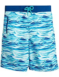 Body Glove Boys Quick-Dry Swimming Board Shorts, Blue Waves, Size 14/16