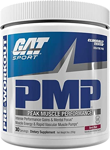 GAT Sport PMP Peak Muscle Performance, Berry Blast, 30 Servings