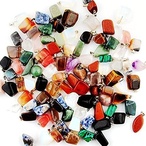 Mutil Random Irregular Shape Healing Beads Crystal Stone Quartz Charms Pendants for Necklace Jewelry - Gemstone Point Pendant