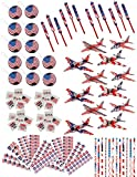 84 Piece Bulk Patriotic 4th of July Themed Party Favor Assortment and Activity Toy Pack for Kids