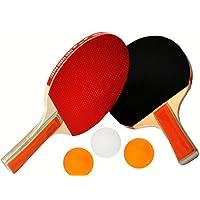 EM HOME Kit Palas Ping Pong, 2 Raquetas Ping Pong, con Juego De 3 Bolas Y Raquetas, Raquetas De Tenis De Mesa con Juego…
