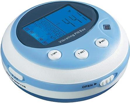 Pastillero vibrador profesional con pitido y alarma de vibración, caja para medicamentos, reloj despertador (5 alarma/día), pastillas, pastillas, recordatorio: Amazon.es: Salud y cuidado personal
