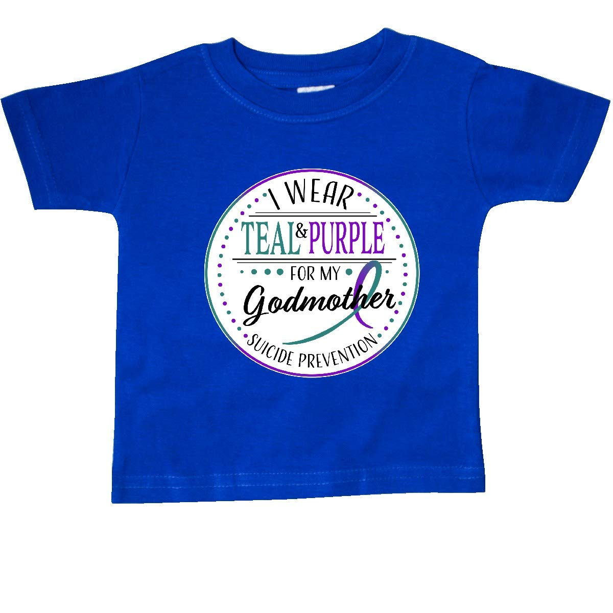 I Wear Teal and Purple for My Baby T-Shirt inktastic Suicide Prevention