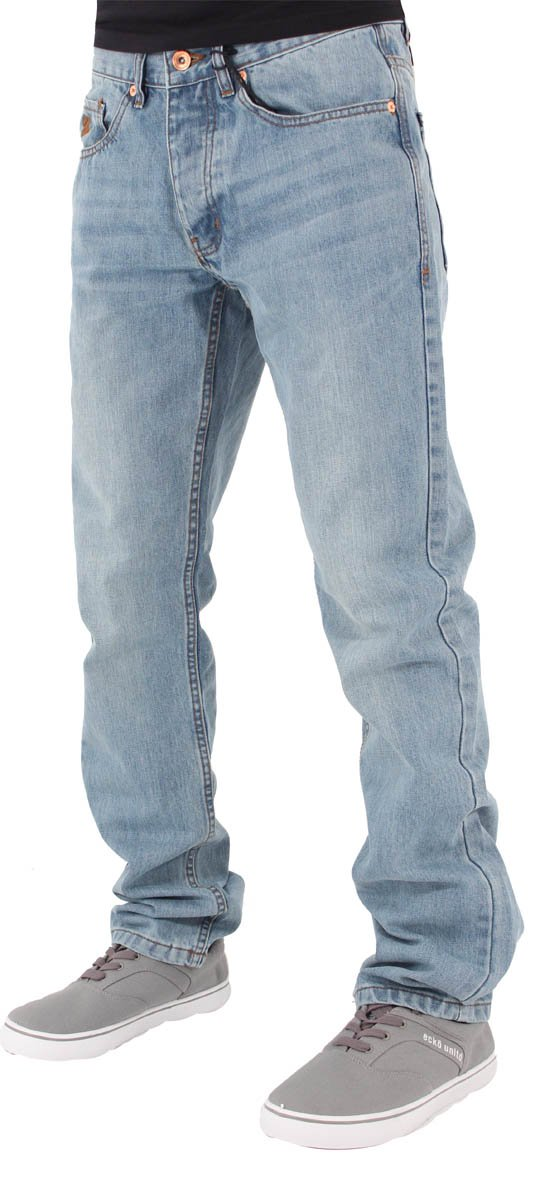 Rocawear Mens Boys Double R Star Relaxed Fit Hip Hop Jeans Is Money G Time SWB (W38 - L34, Stonewash Blue)