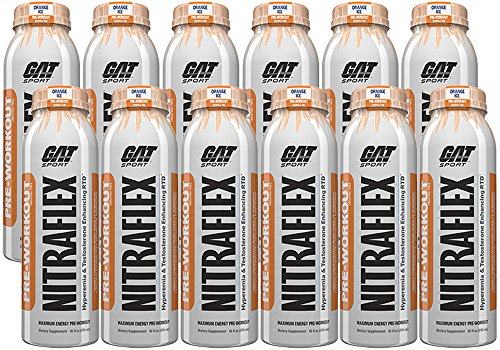 GAT SPORTS Nitraflex RTD Energy Drink Orange Ice 12/10oz Bottles