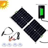 Kit de panel solar plegable de 100W 12V /5V, cargador de panel solar de células de silicio polivinílico con controlador…