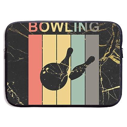 Amazon.com: Vintage Bowling Notebook Bags Zipper Laptop Bag ...