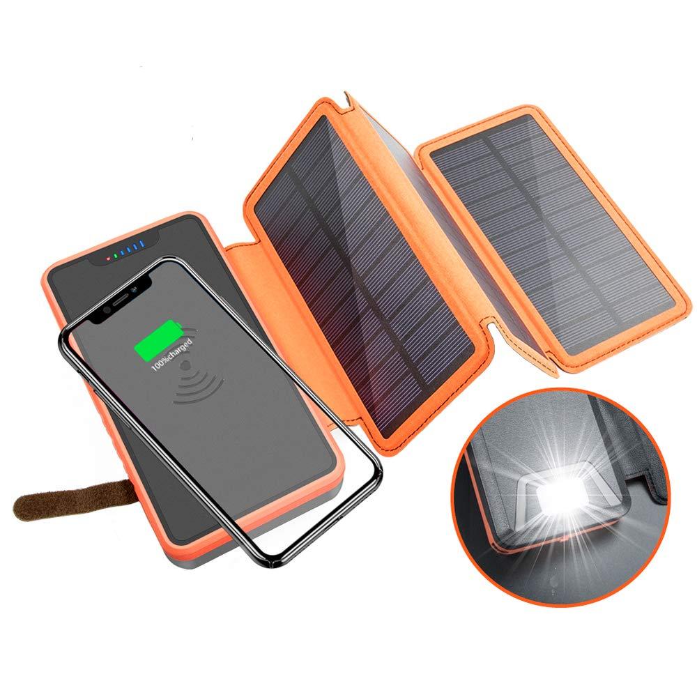 Cargador Solar Portatil con Bateria de 20000mah ELZLE