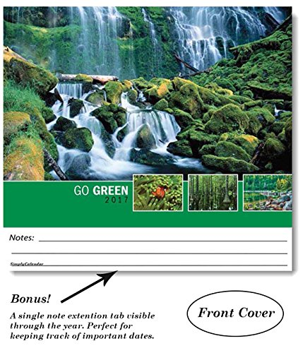 Go Green Environmental 2017 Wall Calendar- -18.5 x 10.5 (Open)