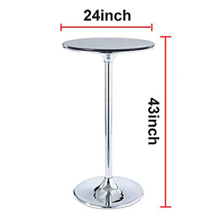 SUNTQ 2 Pack 24x43 Cocktail Spandex Stretch Square Corners Tablecloth Black