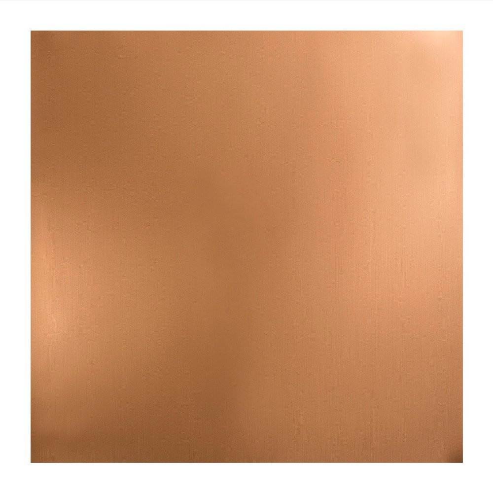 Fasade Easy Installation Flat Polished Copper Lay In Ceiling Tile / Ceiling Panel (2' x 2' Tile)