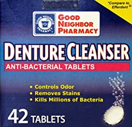 GNP Denture Cleanser Anti-bacterial Tablets (42 Tablets)