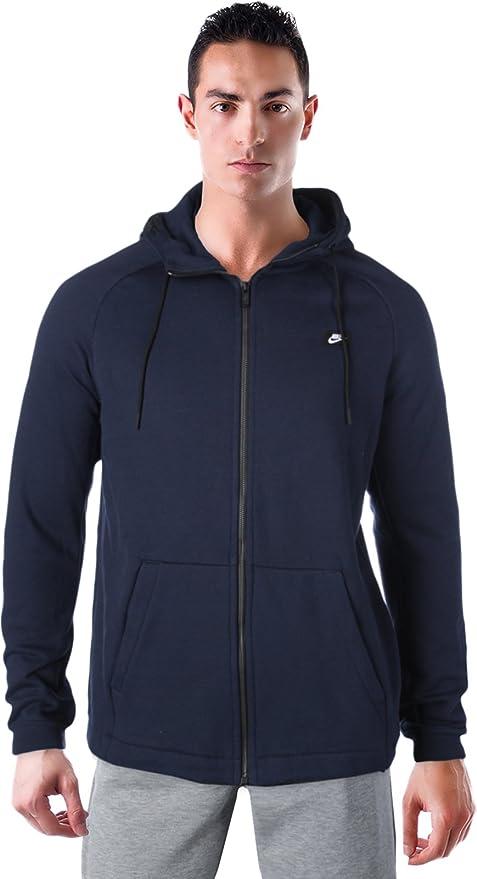 be000484320ba Nike M NSW Modern Hoodie FZ Sweat Capuche BB - , Homme, Bleu ...
