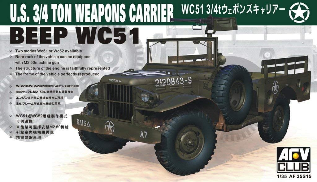 Unbekannt AFV Club 35s15/ /Modelo Kit WC 51/4/x 4/Arma Carrier dodg