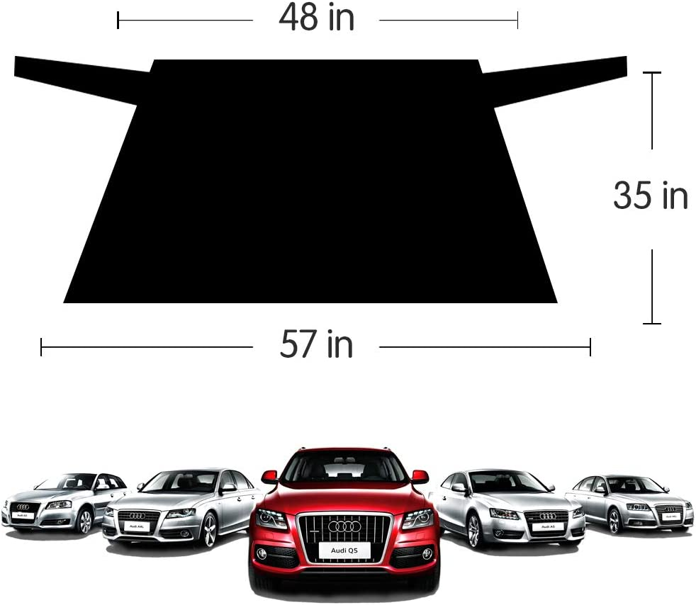 AOIT Magnetic Rear Windshield Snow Ice Cover Back Windscreen Cover Protector Ice Removal Frost Guard 55 35 Universal Fit for Most Cars