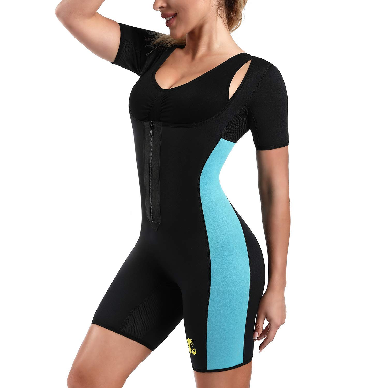 eb261ff90f Neoprene Bodysuit Women Hot Sweat Sauna Shaper Suit Body Slimming Weight  Loss
