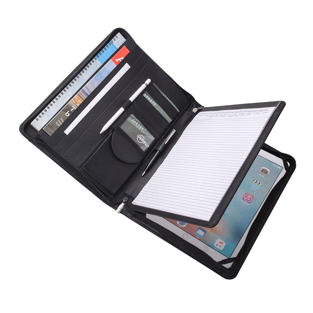 Executive Organizer Portfolio for 12.9 inch iPad Pro and A4 Notepad,Black