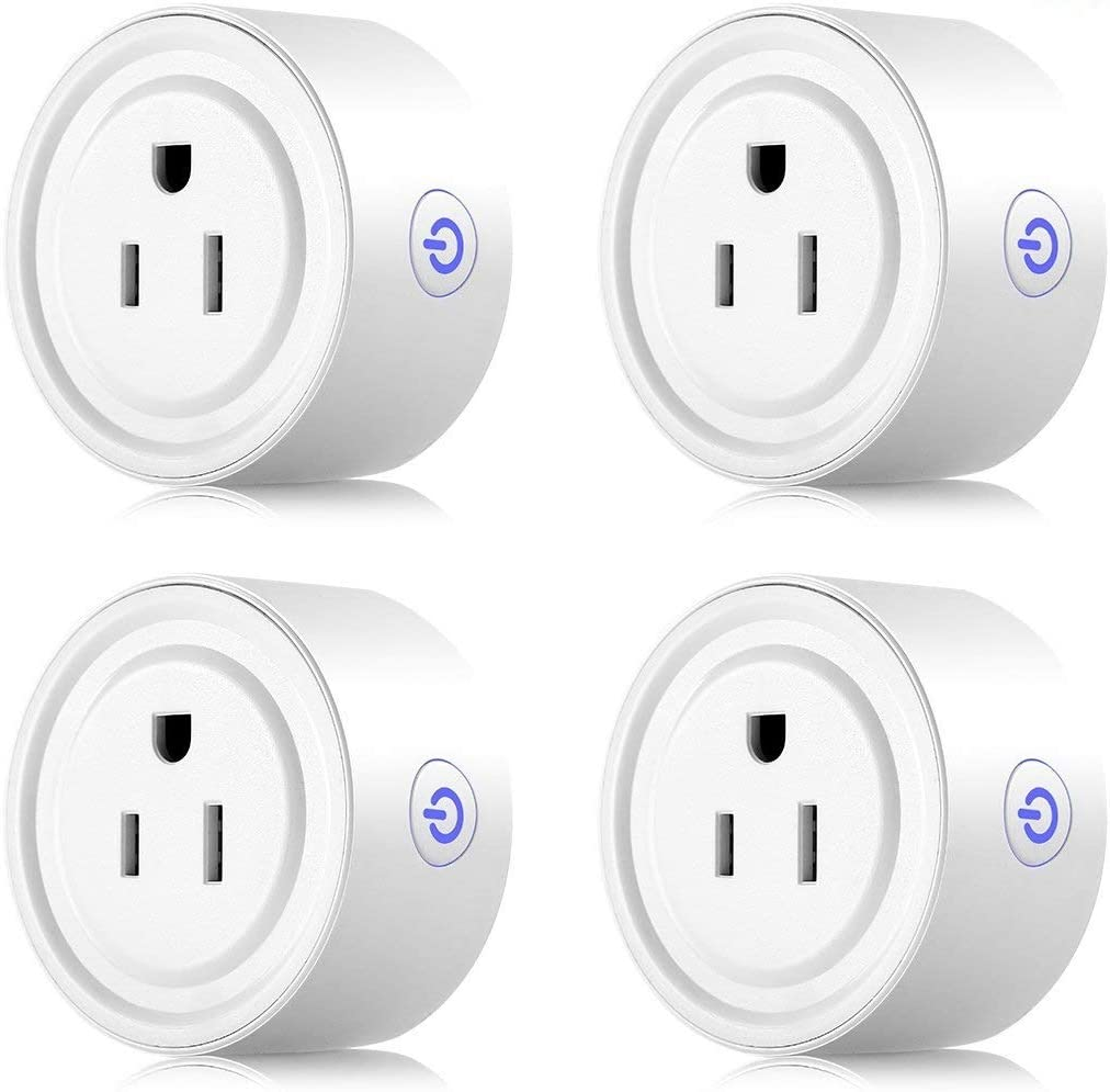 Apromio JH-G01U Wi-Fi Enabled Work with Amazon Alexa Google Home, Remote Control Outlet with Timing Function Round 10A Smart Plug