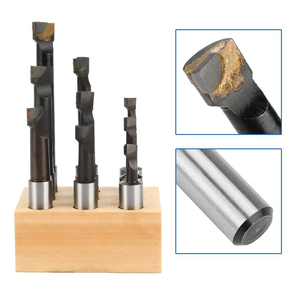 9pcs High Steel Speed Material 1//2 Round Shank Boring Bar Set Machine Tool Accessories Turning Tools