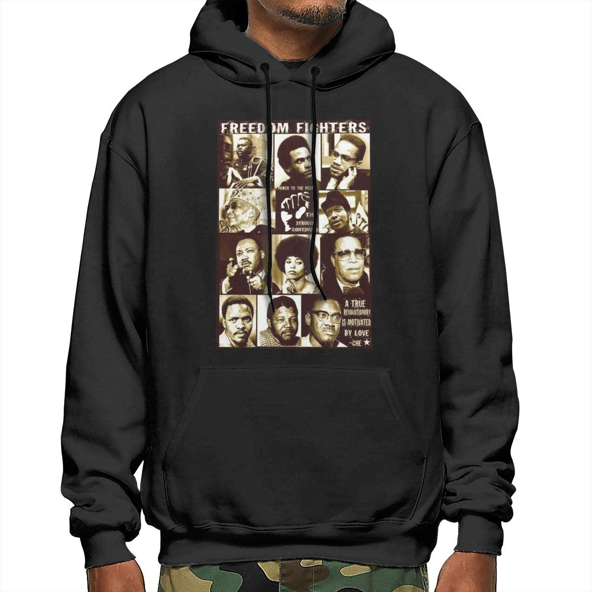 J4b756J Mens Harriet/_Tubman Pullover Long Sleeve Hoodies Coat Loose Casual Sweatshirts with Pocket