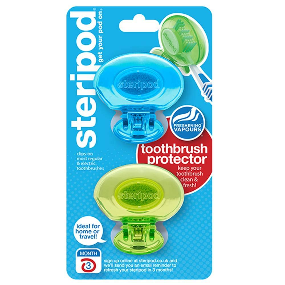 steripod ENE03-BRK Toothbrush Protector Dual Pack (Assorted Colors): Clothing