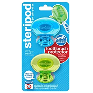 steripod ENE03-BRK Toothbrush Protector Dual Pack(Assorted Colors)