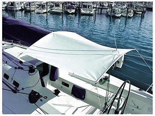 Oleu-Segel Sonnensegel mit Gestänge Weiß 1,9m x 1,9m