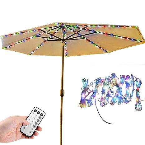 Amazon Com Patio Umbrella Lights Learsoon 8 Lighting Mode 104 Led