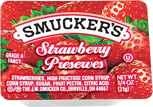(Smucker's Strawberry Preserves Portion Control, 0.75 Ounce (Pack of 200))