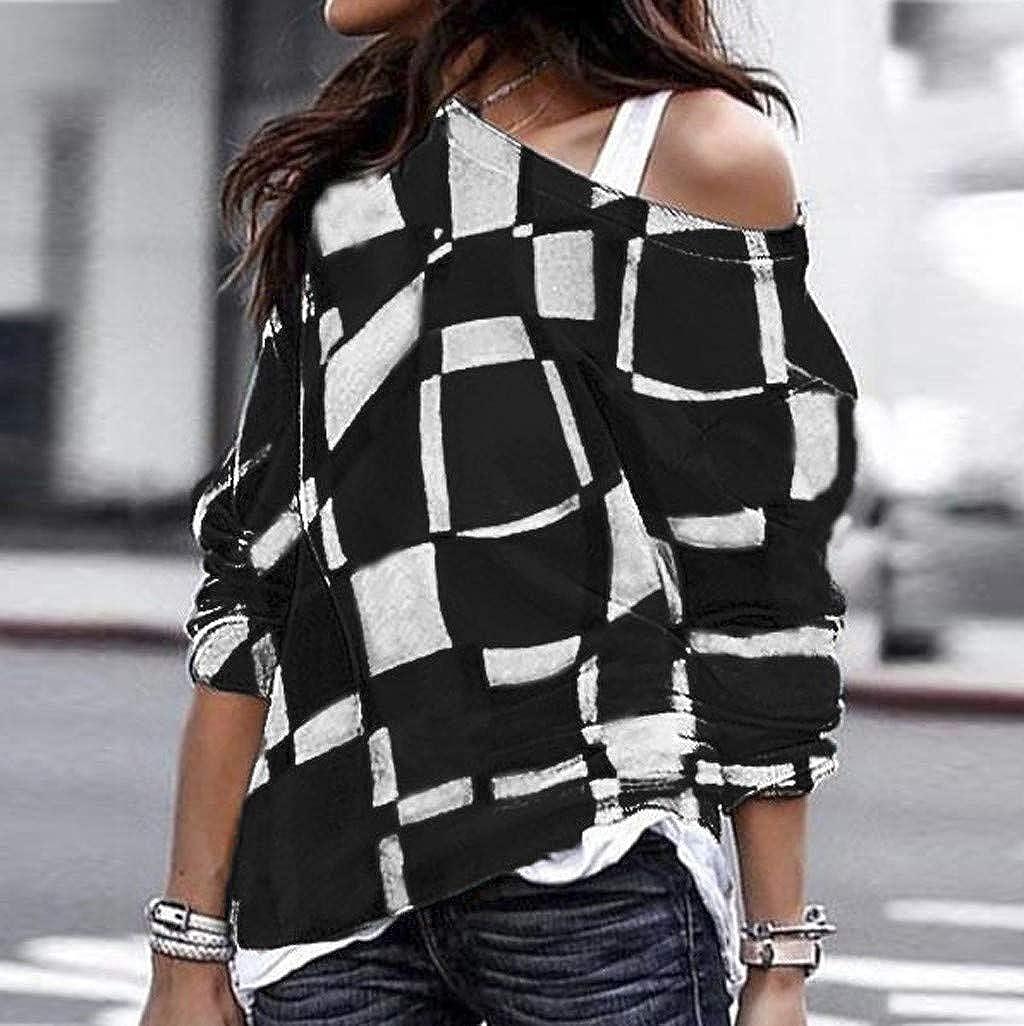 36dea8ef4010e Ulanda Women s Long Sleeve Sweatshirts Casual Oversized Baggy Off Shoulder  Shirts Pullover Tops Blouse at Amazon Women s Clothing store