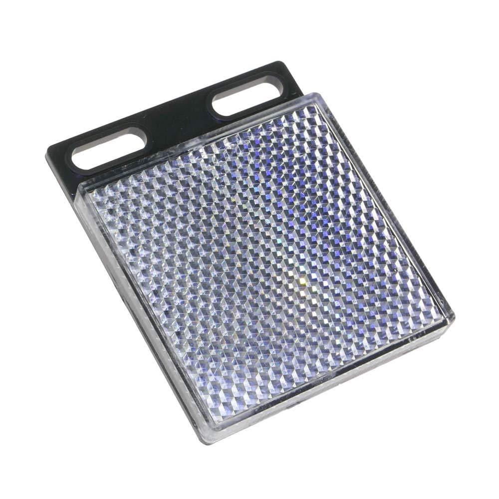 BeMatik - Reflector rectangular mirror reflex for photoelectric photocell 47x47mm BeMatik.com