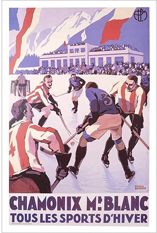 vintage retro style Sports d Hiver ski poster image metal sign wall door plaque