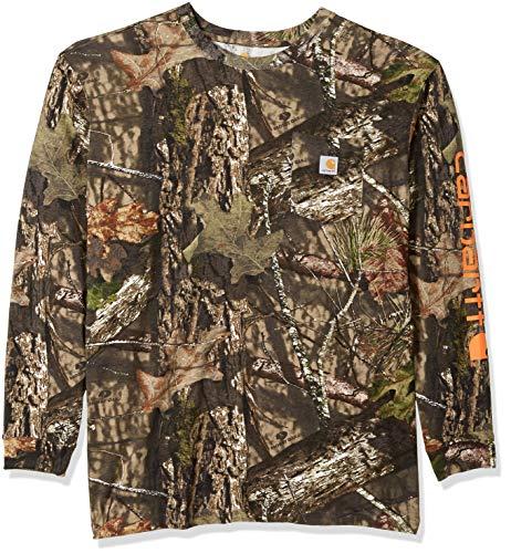 Carhartt Men's Big & Tall Workwear Graphic Camo Long Sleeve T Shirt, Mossy Oak Break, 3X-Large
