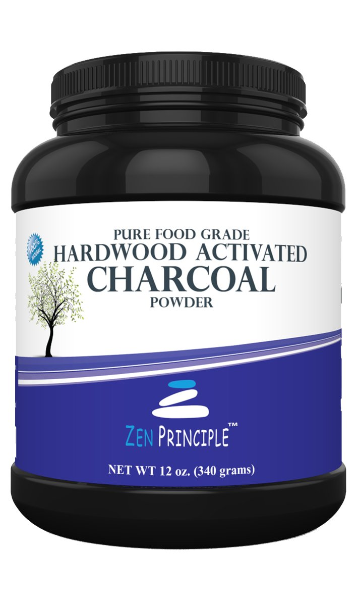 Activated Charcoal Powder only from USA Hardwood Trees. All Natural. Whitens Teeth, Rejuvenates Skin and Hair, Detoxifies, Helps with Digestion, Treats Poisoning. Free Scoop Included. 12 oz.