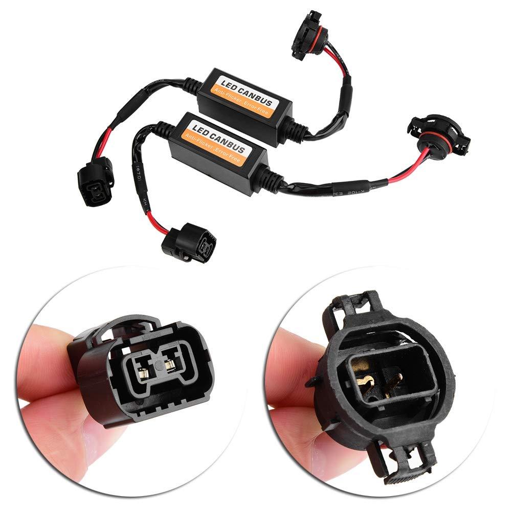 LED Canbus 2pcs Auto scheinwerfer Canbus Decoder Warnung Fehler Abbruch H-16//5202 LED Canbus Decoder Anti Flicker Widerstand