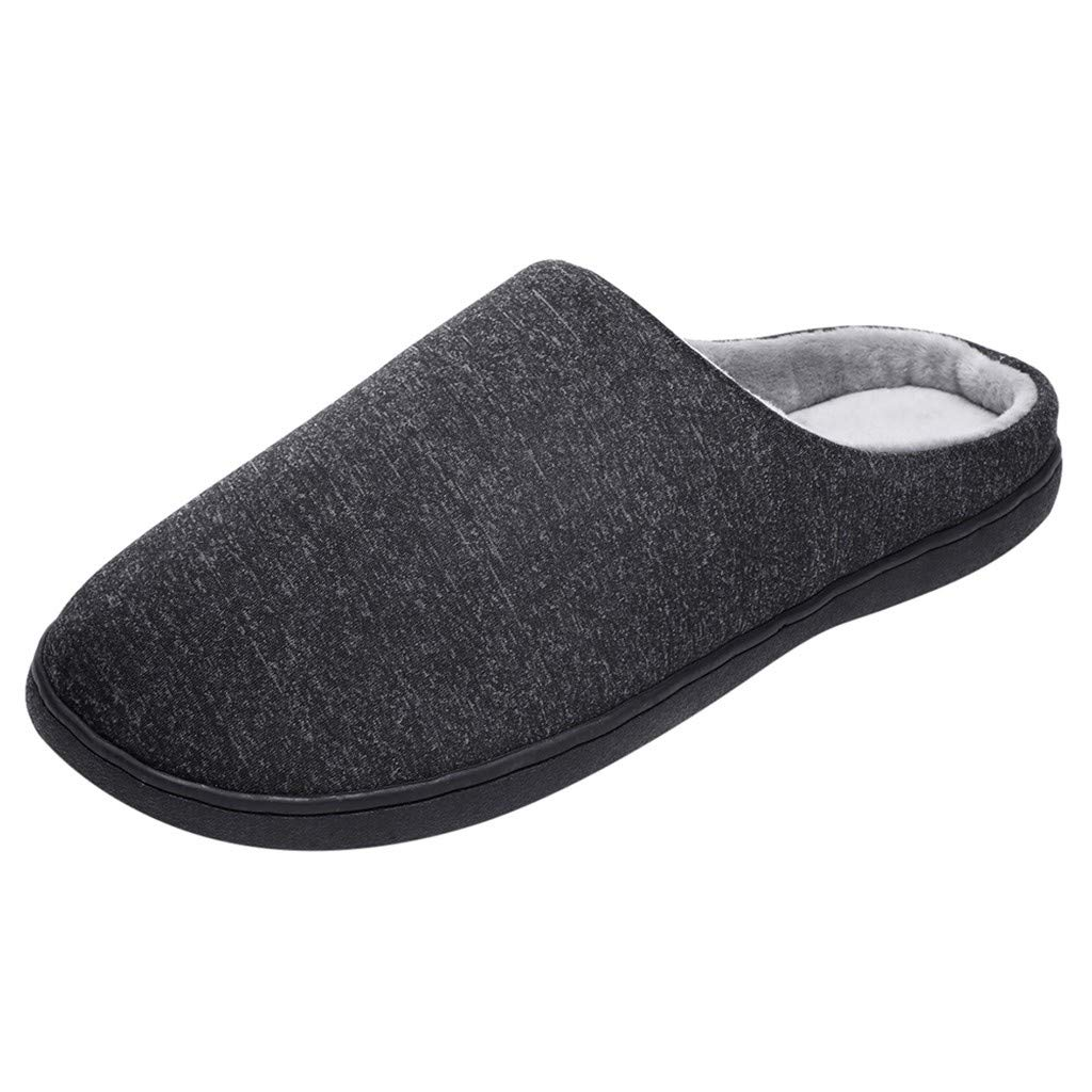 Men's and Women's Comfort Quilted Memory Foam Fleece Lining House Slippers Slip On Clog House Shoes,SUNSEE 2019