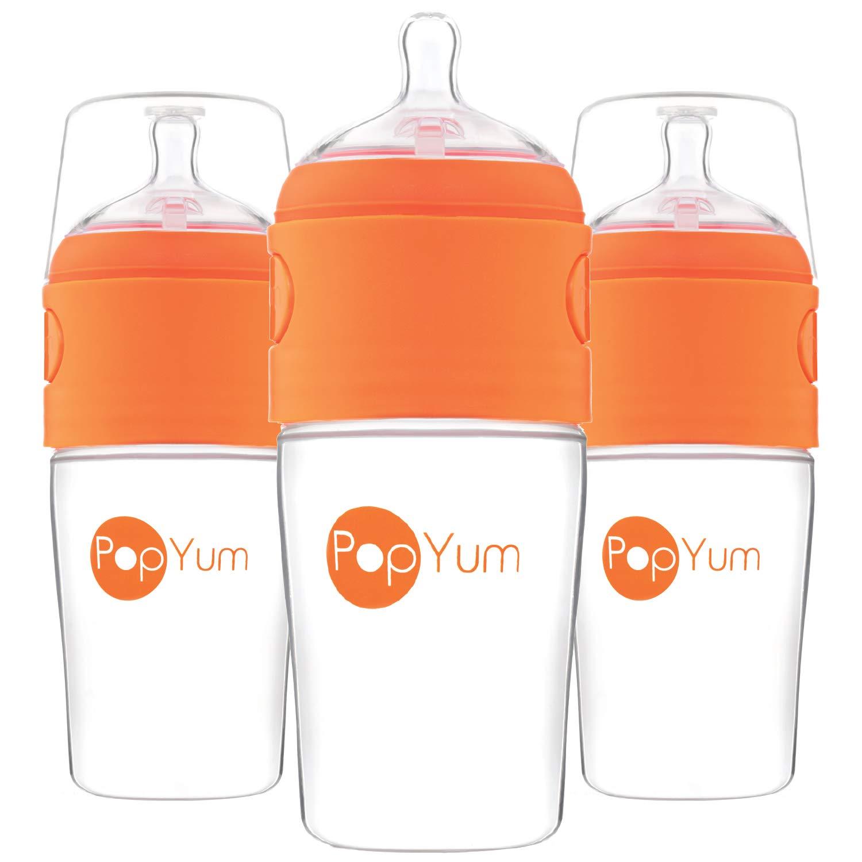 PopYum 9 oz Anti-Colic Formula Making/Mixing/Dispenser Baby Bottles, 3-Pack by PopYum